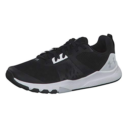 Under Armour Women's Tribase Edge Trainer, Scarpe Sportive Indoor Donna, Nero (Black/White/Halo Gray), 38 EU