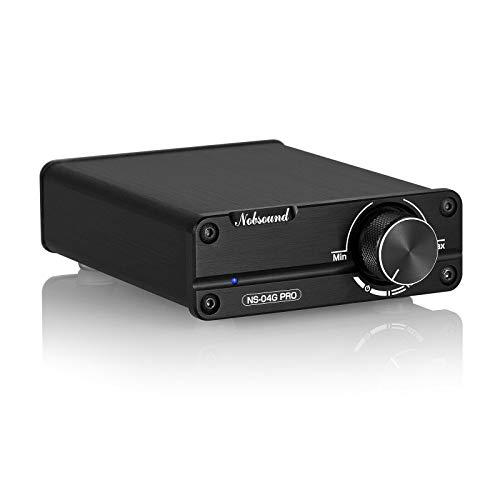 Nobsound, amplificatore stereo digitale, HiFi, Mini Dual TPA3116, elevata qualità audio, canale 2.0, 100 W x 2, con preamplificatore NE5532P, colore nero