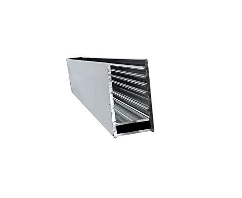 Glaszentrum Hagen - U Aluminium Profil für Duschwände - Duschkabinen - Heimwerken (TYP 1001 1.1)
