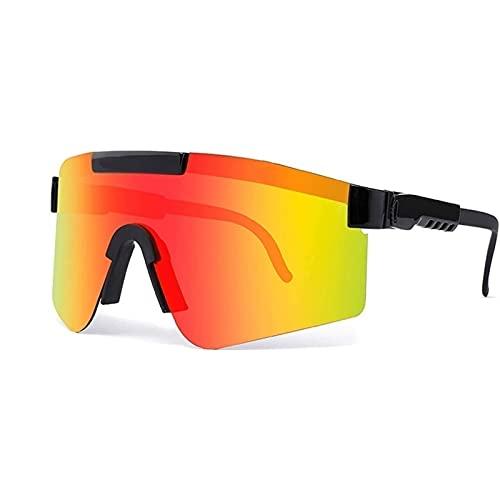 Huabei2 Gafas de Sol Polarizadas Eyewear a Prueba de Viento UV400, Gafas de Ciclismo al Aire Libre, Gafas de Sol Ajustables para Hombres y Mujeres (Color : A6)
