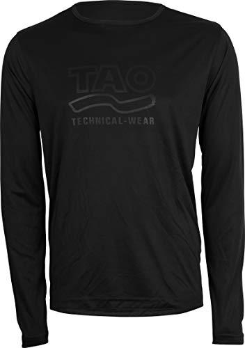 TAO Sportswear Funktionelles Herren Langarm Oberteil mit Logo Prägung PRASUS Black 50