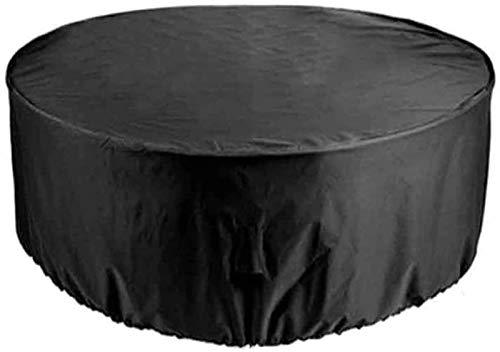 Fundas de muebles para exterior 420D 225x95cm Cubierta de muebles al aire libre redonda a prueba de viento Jardín Circular cubierta de mesa resistencia al desgarro muebles