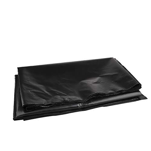 AHZZY Teichfolie, faltbar, wasserdicht, schützende Unterlage, flexibel, vorgeschnitten, 2 x 2 m, Schwarz