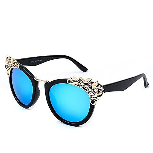 AMFG Señoras grandes marco Gafas de sol Moda Rhinestone Personalidad Gafas de sol Gafas de sol Cómodo Regalo de viaje al aire libre (Color : A)