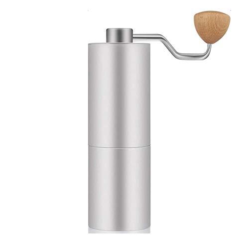 YFGQBCP Coffee Grinder Manual Molinillos de café, el Deber Profesional de Acero Inoxidable de café molinillos manuales Burr Reutilizable filtros de café, 6,37 Pulgadas (16 cm)