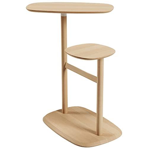 La mesa lateral delgada dormitorio, madera natural de la mesa se puede girar la mesa lateral para los espacios pequeños, la mesa del extremo de la mesa de la esquina del sofá para la sala de estar