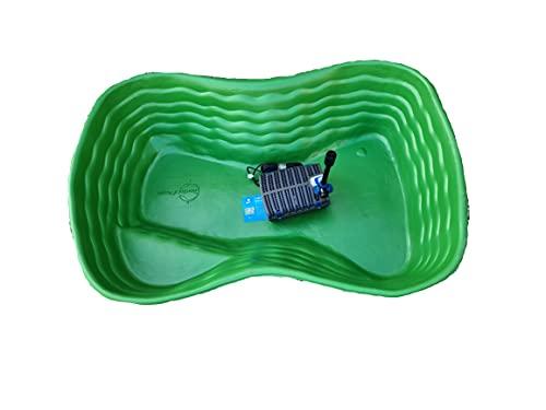 Giardini d'Acqua Laghetto Completo Grande Kit MOD. Bolsena + Filtro Interno Gda Uvc 1500 Stagno Artificiale 178 x 130 cm Pompa Inclusa Vasca Pesci Piante Koi