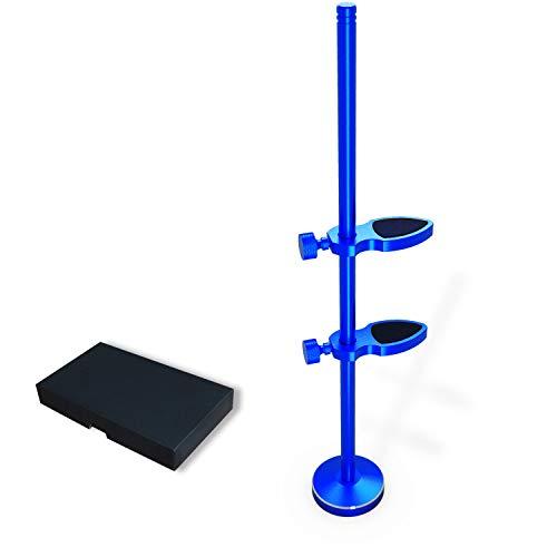 glotrends Grafikkarten-Unterstützung, universeller VGA-Grafikkartenhalter, eloxiertes Luftfahrtaluminium, DIY verstellbare Einzel-/Dual-Slot Karten für Computergehäuse (Blau)
