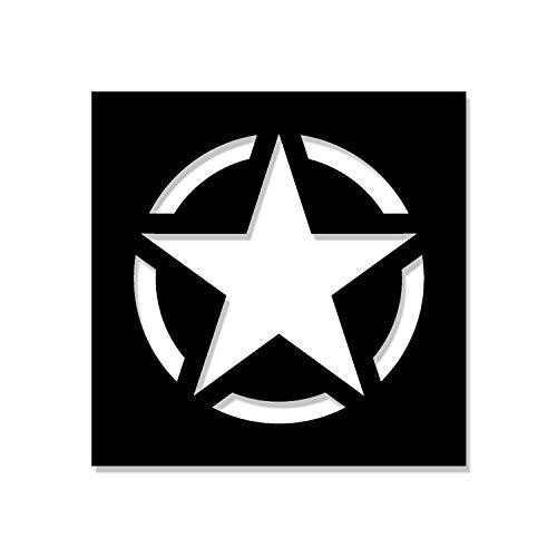 #A4610 Autocollant pour pochoirs de Vernis Motif étoile de l'armée 13 x 13 cm