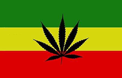 DURABOL Bandera de Rastafari marihuana flag 90x150cm SATIN
