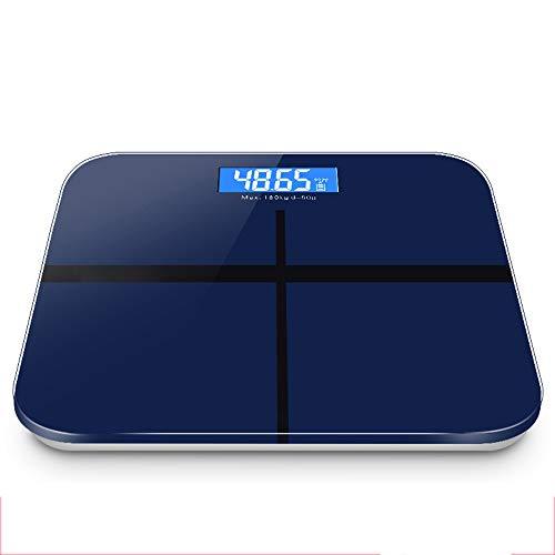 GFKD Peso balanza Digital, Ultra-Delgado, fácil de Leer Vidrio Templado, Stepping Tecnología, Electrónica de precisión, 15 años de garantía-Royal Blue