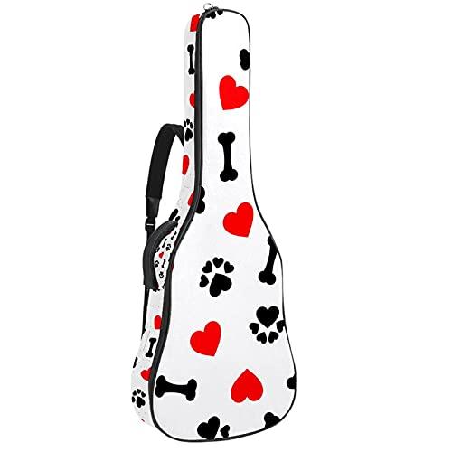 Bolsa para Guitarra Corazón rojo de pata de hueso Funda para Guitarra...