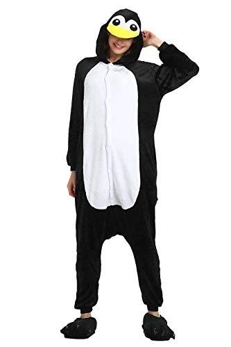 Tickos Animal Onesies Novedad Animal Mono Pijama Unisexo Adulto Pijama Disfraz de Cosplay de Halloween Disfraces (Pingüino, Medium)