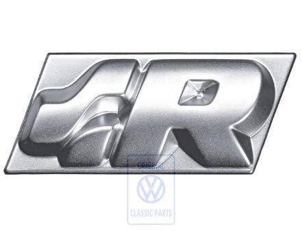 R32 placa para volante para Volkswagen Golf 4 R32, color plateado y cromo