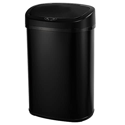 KITCHEN MOVE BAT-58LS06A SS Black - Papelera de Cocina automática (58 L, Gran Capacidad, Acero Inoxidable Mate, 40,9 x 29 x 65,5 cm), Color Negro Mate