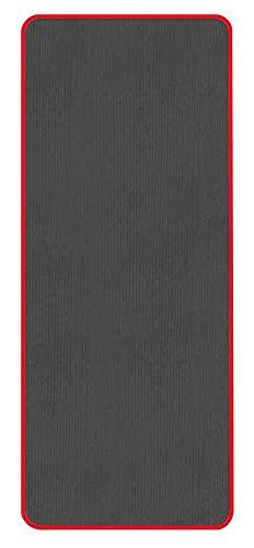 TYUTYU Estera de Yoga Engrosada Antideslizante NBR Gimnasio Mats Mats Deportes Cojín Gimnastic Pilates Pads con Correa de Bolsa de Yoga (Color : Black)