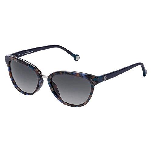 Carolina Herrera SHE688540719 Gafas, SH.Blue-Green-Gold Havana, 54/17/135 para Mujer