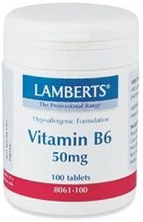 LAMBERTS VITAMINA B6 50 mg. 100 comp. by Unknown