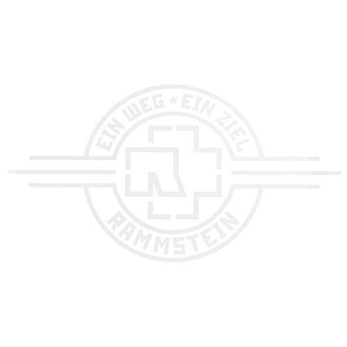 """Rammstein Auto Aufkleber Sticker EIN Weg, EIN Ziel"""" weiß (aussenklebend) 69 x 38cm, Offizielles Band Merchandise Heckscheibe"""