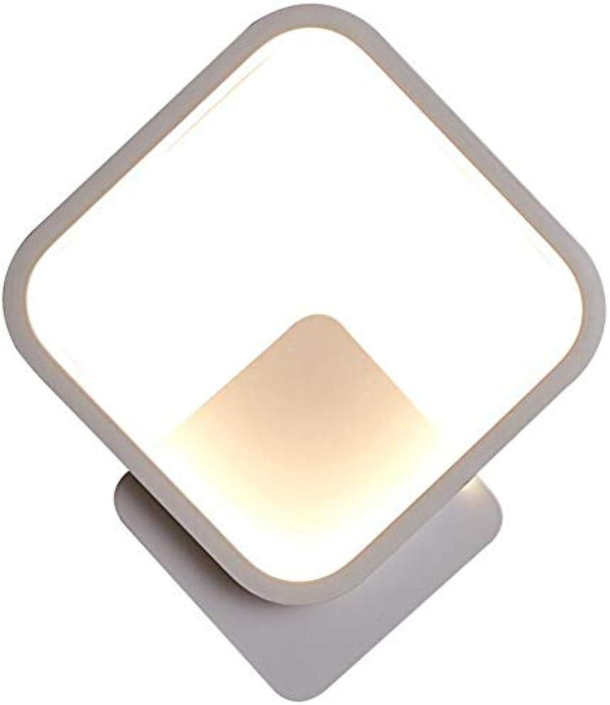 LED-Wandlampen Moderne einfache Nachttischlampe quadratische Wandleuchte warme Gang-Lampe Schlafzimmer Spiegel
