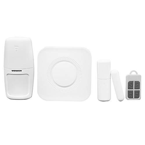 OWSOO 433MHz Sistema Alarma WiFi, Incorporada Sirena 100dB, Control Remoto de App Tuya iOS Android, Compatible con Alexa Voice Control, 1×Sensor de Movimiento + 1×Sensor de Puerta + 1×Control Remoto