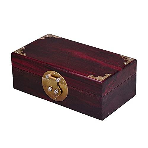 WOZUIMEI Caja de Almacenamiento de Joyería de Madera, Cofre de Joyería Vintage, Organizador de Caja de Joyería de Estilo Chino para Regalo de Boda, Caja de Baratijas