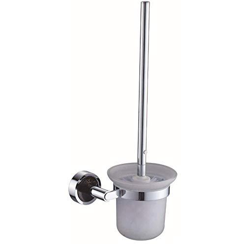 WCJ Huishoudelijke eenvoudige koper toilet borstel houder jade plating toilet badkamer schoonmaak borstel badkamer hardware hanger keramische beker muur opknoping