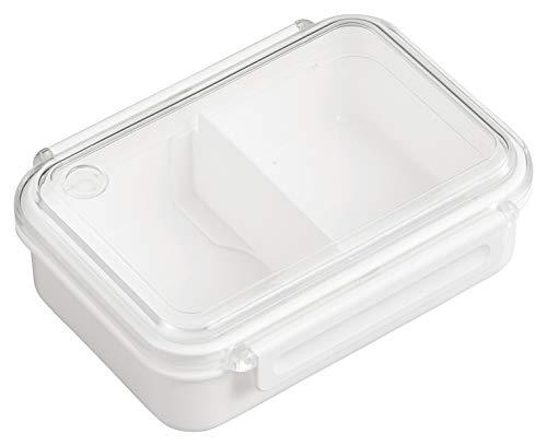 OSK 弁当箱 ランチボックス まるごと冷凍弁当 ホワイト 500ml [保存容器/冷凍OK/レンジOK/仕切付] 日本製 食洗機対応 PCL-1S