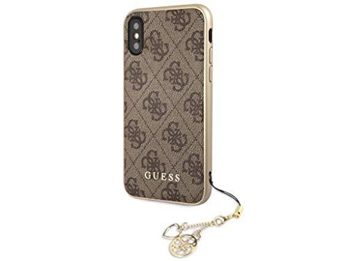 Guess iPhone 11 Charms Book Leder Tasche (GUFLBKSN614GB) Braun