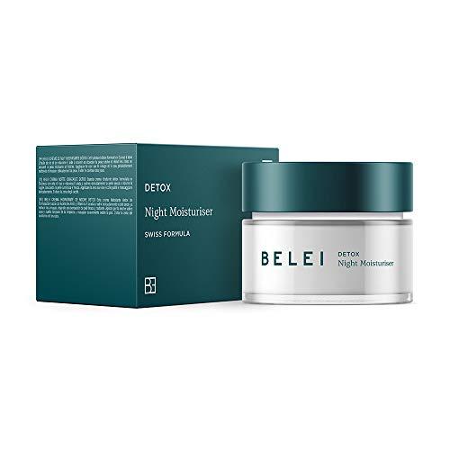 Marca Amazon - Belei Crema hidratante détox de noche, 50ml