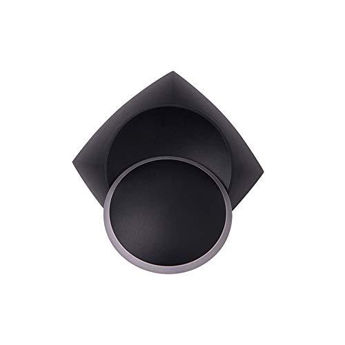 Vinteen 360 Degrés Rotation Led Rond Applique Lumière Simple Moderne Chevet Chambre Chaude Lumière Applique Salon Escaliers Allée Nordique Postmoderne Creative Lantern (Color : Black)