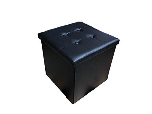 pouf 50x50 Pouf in Ecopelle colore nero