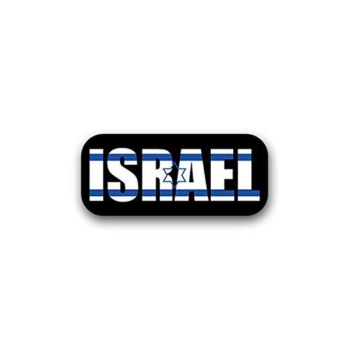 Aufkleber/Sticker Israel Staat Vorderasien Jerusalem Fahne Flagge 16x7cm A1725