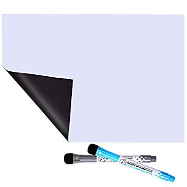 MIGOHI Magnetic Dry Erase Board for Fridge, 12  x 8  Refrigerator Whiteboards for Writing Notes and Reminders, Flexible Magnet Board with Stain Resistant Technology