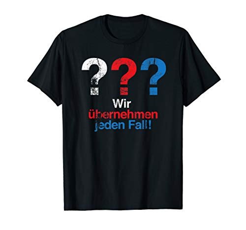 3 Detektive & Fragezeichen - Vintage Edition T-Shirt