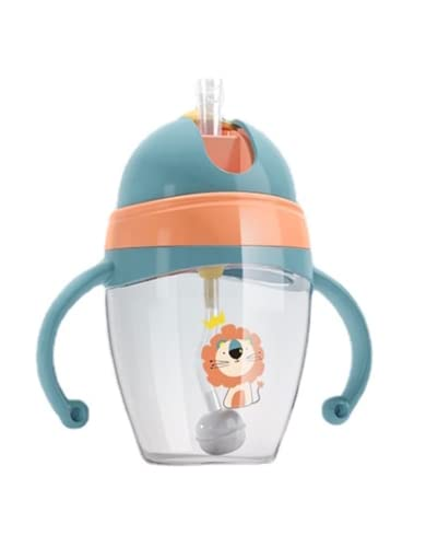 Baby Sippy Cup with Straw, Weighted Straw Sippy Cup, Toddler Straw Cups Baby Learner Cup with Handles, Learner's Cup with Soft Spout, Leak-Proof Spill-Proof Break-Proof Cups for Toddlers Infant, 8 Oz
