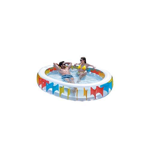 HSF Piscina de bañera Inflable for niños Piscina de Aislamiento de baño Familiar de Gran tamaño Engrosada Piscinas hinchables (Color : B)