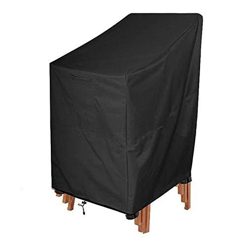 WIFUN Gartenstuhl-Abdeckung, 210D Oxford-Tuch, wasserdicht, UV-beständig und reißfest, Terrassenstuhl-Abdeckung (120 x 65 x 65 x 80 cm)