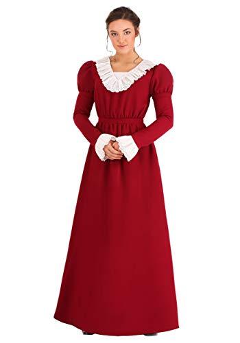 Disfraz de Abigail Adams para mujer - Rojo - XL