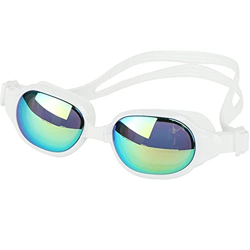 Hombres y Mujeres Profesional Adulto Impermeable, Anti-Niebla y Anti-Ultravioleta Gafas de natación Ajustables (Color : MM 8706, Size : One Size)