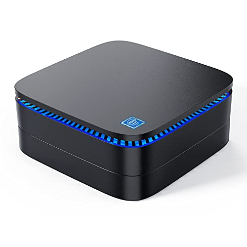 Mini PC, 8GB RAM 256GB mSATA SSD Mini Desktop Computer,Quad Core Intel Celeron J3455 Ordenadores de sobremesa, Home Business Micro Computer Windows 10 Pro Bluetooth 4.2/ Gigabit LAN/Dual Band WiFi