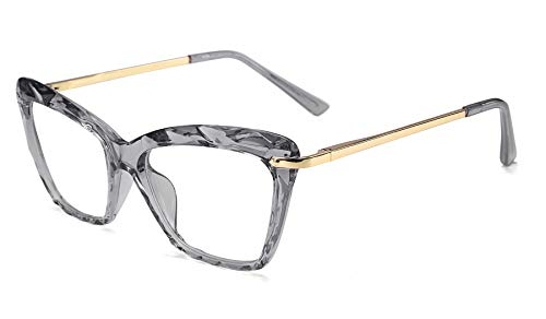 FEISEDY Cat Eye Glasses Frame Crystal Clear Lenses Eyewear Women B2440...