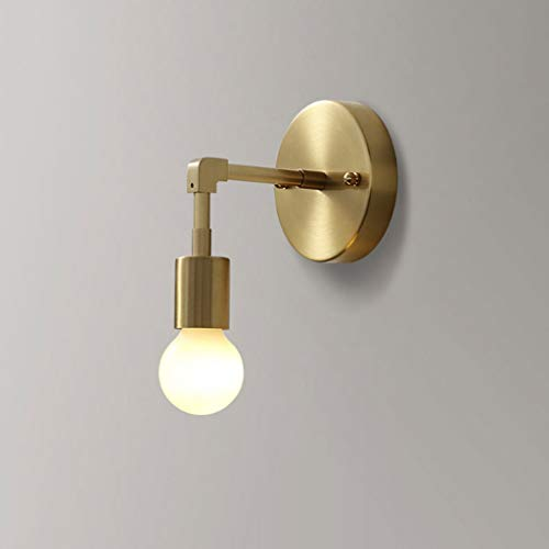 PY Nordic All-Copper Applique Simple Chambre Lampe Creative Salon Corridor Lampe Personnalité Salle De Bains Miroir Phares