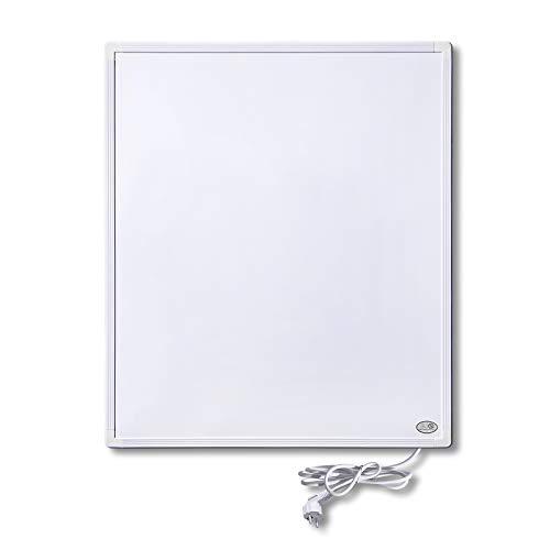 LARS360 Calefacción por infrarrojos a distancia de 300 W con termostato wifi, radiador eléctrico de pared, color blanco, marco de aluminio, protección contra sobrecalentamiento