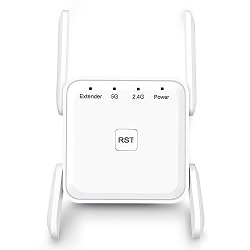 Price comparison product image WiFi Range Extender,  1200Mbps WiFi Booster Repeater 2.4 & 5GHz Dual Band WPS Wireless Signal Strong Penetrability,  Wide Range of Signals(2000FT)