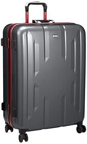 [ゼット・エヌ・ワイ] スーツケース ラウビル 06382 ACE製 フレームタイプ サイレントキャスター 90L 66 cm 5.2kg ガンメタリック×レッド