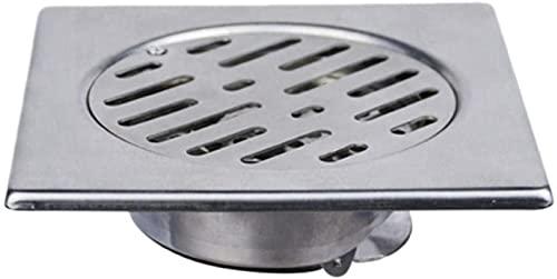 GND Desagüe de Piso, Acero Inoxidable de 15x15cm, Utilizado para Ducha, balcón, Cocina, alcantarillado, división de baño