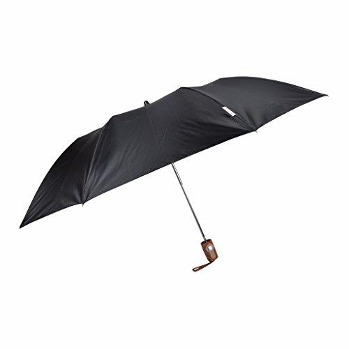 Fendo 2 fold auto open black umbrella for men