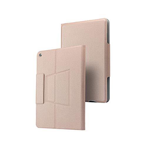 Funda con Teclado inalámbrico Bluetooth para iPad Pro 10.5 Tablet Ultra Thin 7 Colores con retroiluminación LED Funda Inteligente-Oro Rosa_mini1 / 2/3/4/5