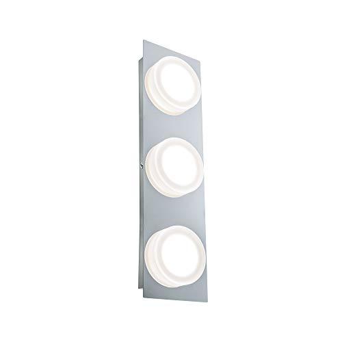 Paulmann 70876 LED Wandleuchte Doradus eckig incl. 3x4,7 Watt Wandlampe Chrom Spiegelleuchte Metall, Kunststoff Flurlampe 3000 K